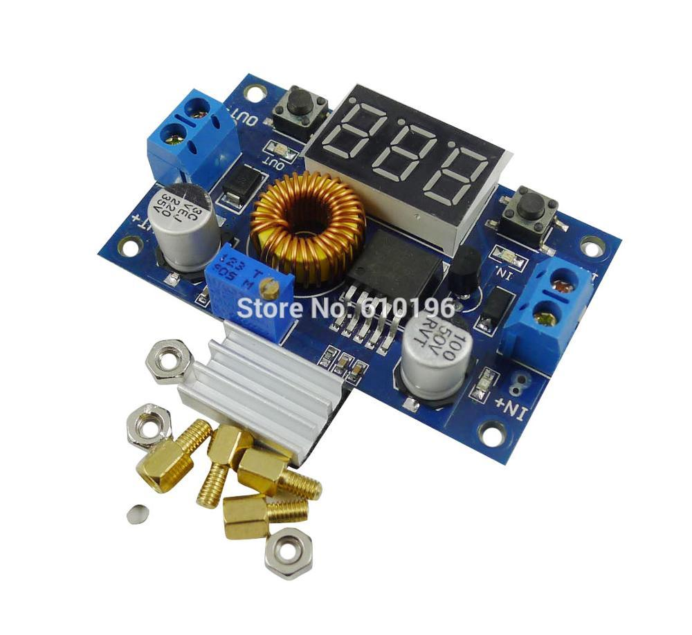 5A DC-DC DC Adjustable Step Down Module With Voltmeter Short Circuit Protection High Effeciency(China (Mainland))