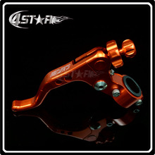 Orange CNC Pivot Short Adjustable Clutch Lever With Clamps Specially For Motorcycle Motocross Dirt Pit Bike CRF KTM YZF KXF RMZ(China)