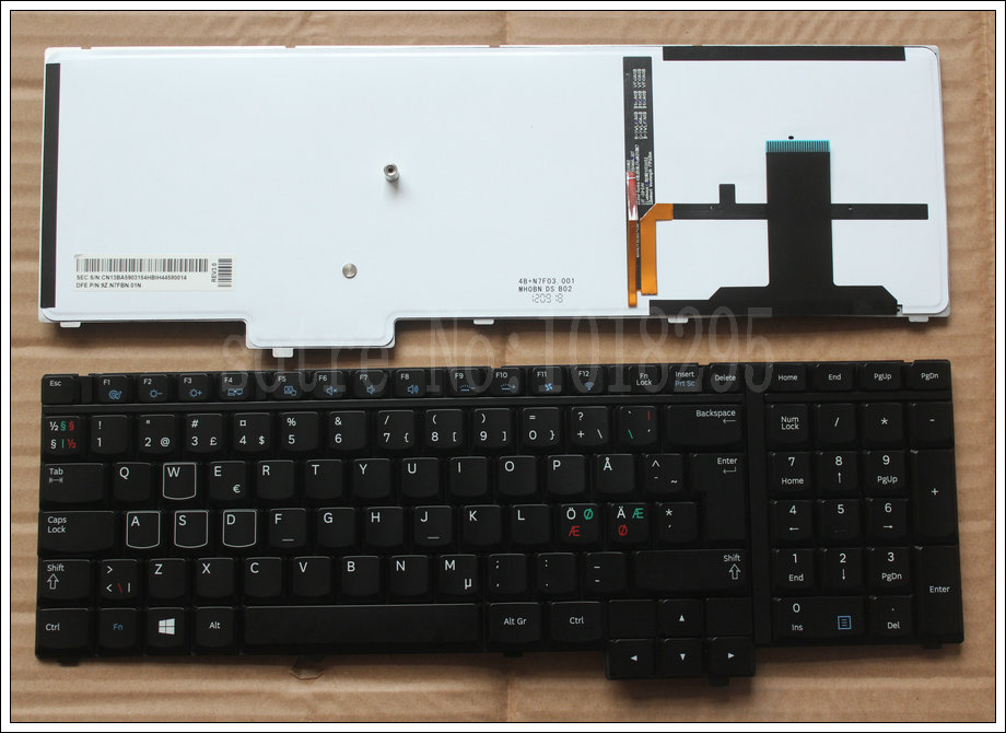 NEW original Nordic NE laptop keyboard for For Samsung NP700G7A NP700G7C Black with blacklight <br><br>Aliexpress