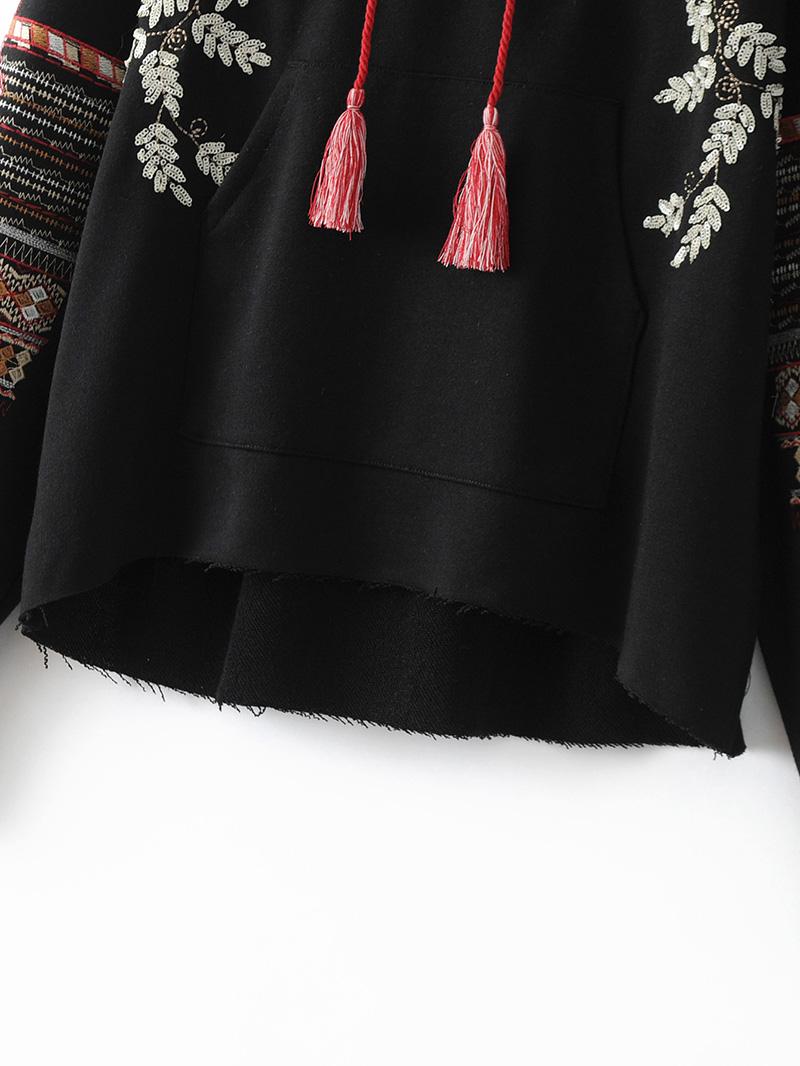 ShejoinSheenjoy Hooded Long Sleeve Loose Hoodies Women Fashion Black Vintage Floral Geometric Embroidery Sweatshirt Pullovers (12)