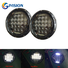 2 PCS H4 Round Headlight 7'' 75W 5D LED Driving lights High beam & Low beam & DRL for Jeep Wrangler JK CJ Hummer Motorcycle