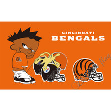 Cincinnati Bengals Flag 3X5 with steelers Ravens Brown banner flag custom bad kids flag(China)