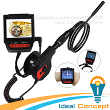 Watch Type Borescope Rechargeable Battery Wearable 6 LED Video Inspection 8.5mm Camera 2.4inch TFT LCD(China)