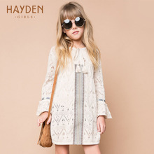 HAYDEN girl sweater dress long sleeve pretty crochet spring costumes teenage girls clothes 8 10 12 13 years vintage fancy frocks