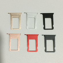 "For iPhone 7 4.7"" 10pcs/lot Original New Nano Sim Card Adapters Tray Slot Holder 6 Colors Replacement Repair Parts"