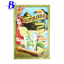 Wand Decoratie Vintage caipirinha Vintage Tin Sign Bar  Home Wall Decor Retro Metal Art Poster Feyenoord beer signs vintage