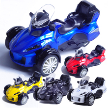 1:12 Classic bombardier alloy back three rounds motorcycle model car toy Alloy Motor Gift Toy