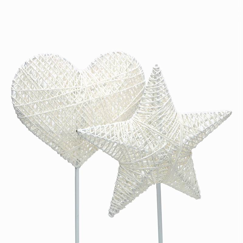 Chiclits 40CM Star Heart Shape LED Night Light Grass Rattan Woven Battery Power Girls Bedroom Decorative Table Lamp Kid Gift Toy (20)
