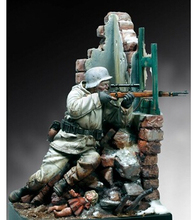 Unpainted Kit  1/18  German sniper 90 mm   figure Historical WWII Figure Resin Kit Free Shipping