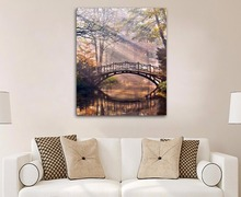 Poster Printed Thomas Kinkade Landscape Oil Painting Prints on Canvas Wall Art Picture for Living Room Home Decorations Framed(China)