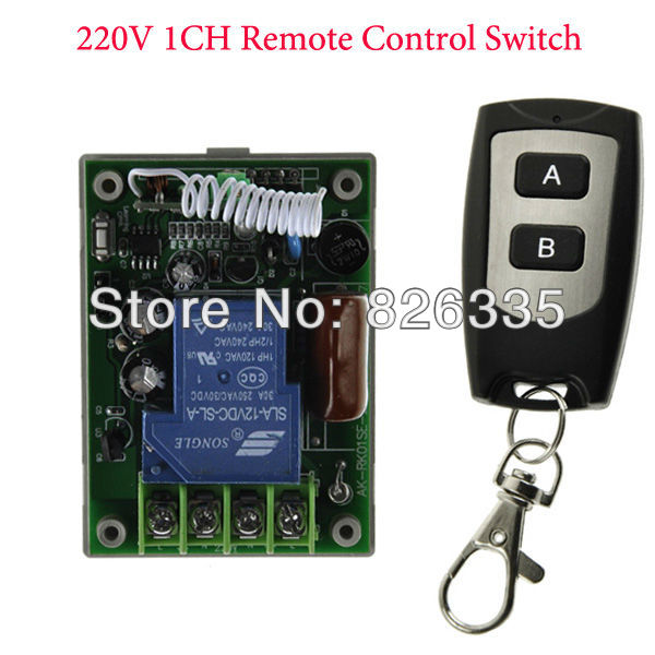 220V 30A 1CH RF Wireless Remote Control Power Switch Receiver with 2-Button Waterproof Transmitters <br><br>Aliexpress