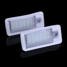 LED License Plate Lights For Audi Number Plate Light For AUDI A3 S3 A4 S4 B6 A6 C6 S6 A8 S8 RS4 RS6 Q7 audi a4 b6 audi a6(China)