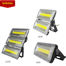 DIY Free combination LED Flood Light 40W/80W/120W Floodlight IP66 85V-230V Spotlight Outdoor Street light Garage Garden Square(China)