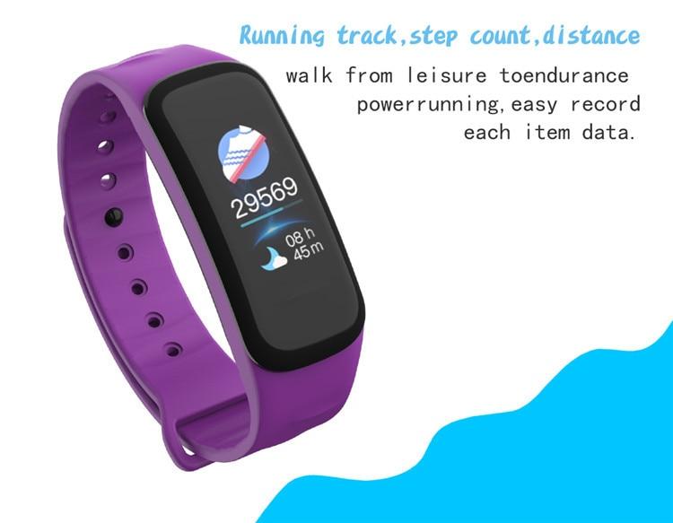 Original C1Plus Smart Bracelet Color Screen Blood Pressure Waterproof Fitness Tracker Heart Rate Monitor pk fitbits miband 3 4