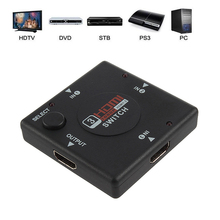 2017 Hot Sale 1Pcs Mini 3 Port HDMI Switch Switcher Splitter HDMI Splitter 3 in 1 out Port for Xbox HDTV DV DVD Player 1080P(China)