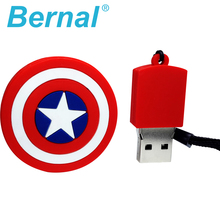 Captain America's shield silicone usb flash drives 8gb 16gb 64gb 32gb 4gb pen drives Creative gifts usb stick high speed usb key