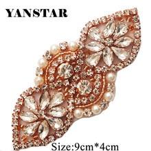YANSTAR 10PCS Wholesale Rhienstone Applique Bridal Sash Beads On For Wedding  Dress Belt Accessories DIY Bridal 525a00acafd1