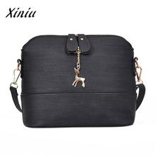 Xiniu Brand leather shoulder bag wessenger bags vintage small shell handbag casual packet fashion clutch bolsas feminina famous(China)