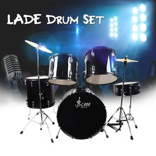 LADE Iron-plating 5 PC Cymbal Hi-hat Jazz Drum Kit Set with Stand Pedal For Drum Musical Percussion Instruments Lovers Gift(China)