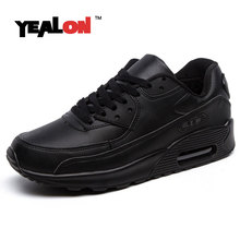 YEALON Winter Sneakers Shoes Men Black Sneakers Women Running Shoes For Men Sports Shoes Air Cushion Buty Sportowe With Fur