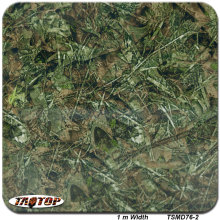 TSMD76-2  1M * 10M green grass camo camouflage Popular Hydro Dipping Hydrographics Film Water Transfer Printing Films