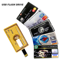Waterproof USB Flash Drive Pen Drive 4GB 8GB 16GB 32GB 64GB Bank Credit Card Shape Memory Stick pendrive u disk flash card