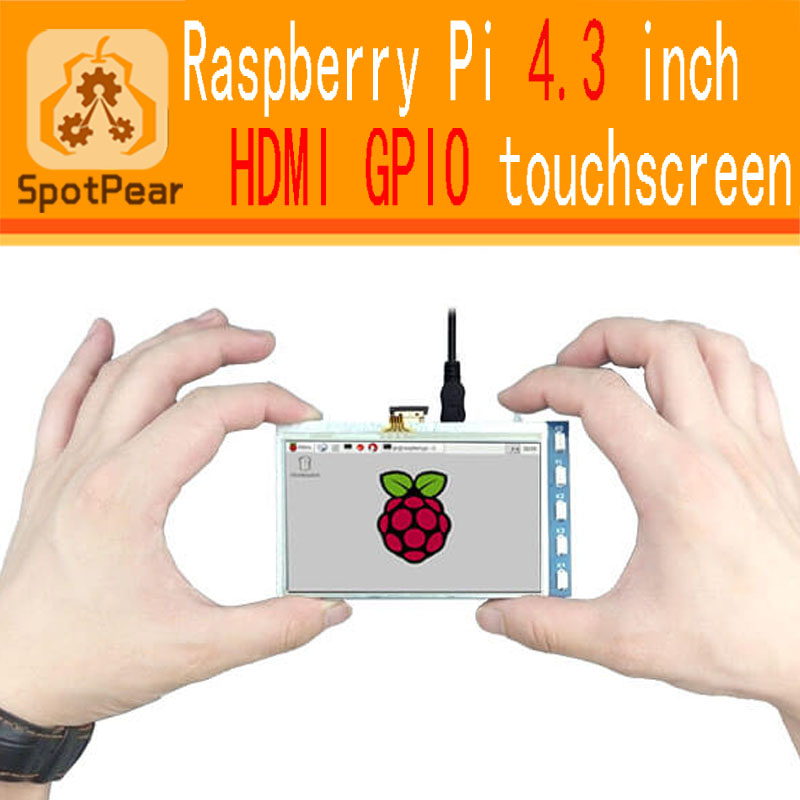 4.3 inch HDMI LCD more smarter than 5inch LCD and 7 inch LCD for Raspberry PI 3 / 2 Model B / B+ / A+ / B Raspberry PI LCD(China)