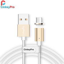 CinkeyPro Magnetic Charging Cable Micro USB Samung XiaoMi Android LED Light 5V 2A Mobile Phone Charger 1M Data Cables