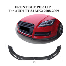 Buy Carbon Fibre Front bumper lip Chin Audi TT 8J MK2 Convertible Coupe 2-Door 2008-2009 Car Styling for $388.79 in AliExpress store