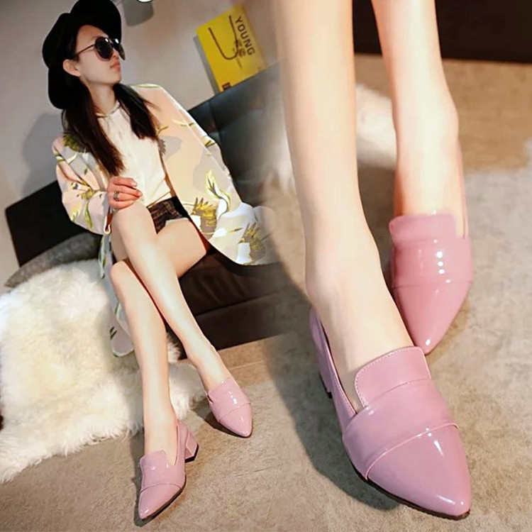 The new spring and summer 2017 British style shoes shoes with pointed rough documentary Nude shoes wholesale<br><br>Aliexpress