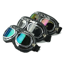 Motorcycle goggles UV400 vintage pilot biker goggle pocket bike Go kart protection Glasses Riding Sunglasses
