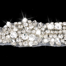 Wedding Party Handmade Beads Crystal Rhinestone Hair Band Elastic Headband