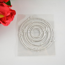circle Transparent Stamp For DIY Scrapbooking/Card Making/ Decoration Supplies
