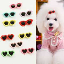 Armi store Pet Sunglasses Hairpin 11019 Dog Hair Clip Pets Head Flower Mix 2 Styles