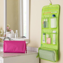 Great Portable Hanging Organizer Bag Foldable Cosmetic Makeup Case Storage Traveling Toiletry Bags Wash Bathroom Accessories