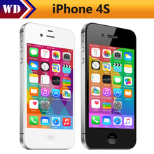 Original Unlocked iPhone 4S Mobile Phone 16GB 32GB 64GB ROM Dual core WCDMA WIFI GPS 8MP Camera Cell phone Used