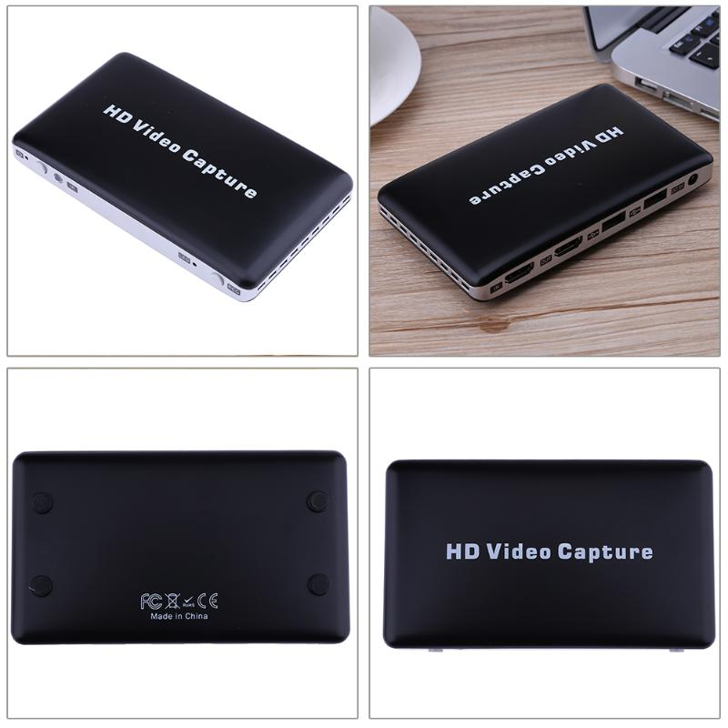 USB 1080P HDMI Game Video Capture HD Video Recorder Box Support re-encoding video for WiiU Xbox PS4 with Remote Control