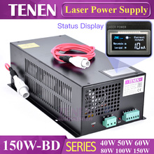 150W-BD With Display Screen CO2 Laser Power Supply 150W 120W 130W 110V / 220V High Voltage Engraving Cutting Machine Laser Tube(China)