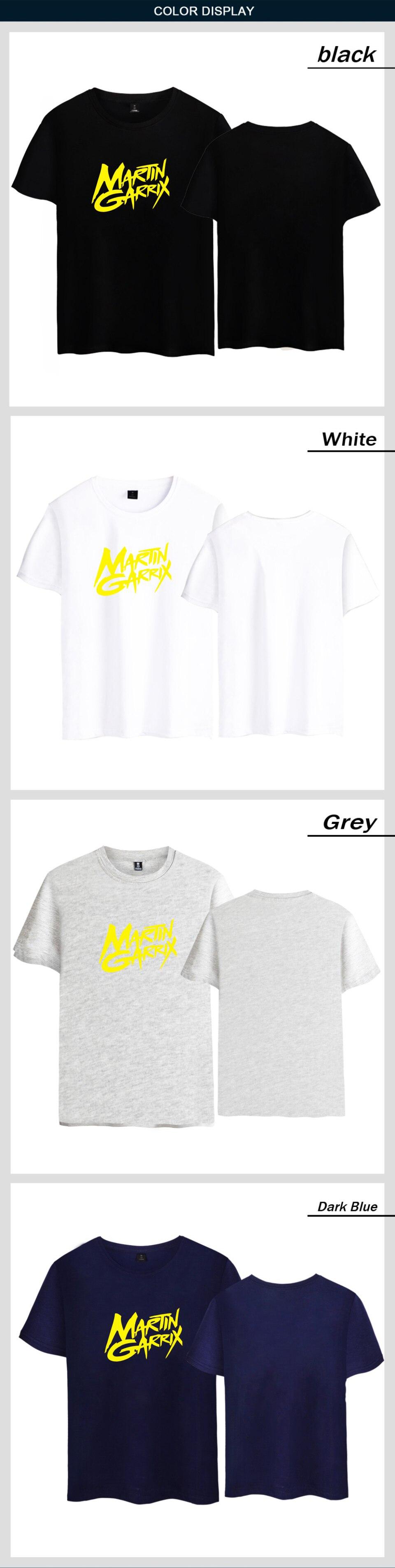2017 Men/Women Cotton Tshirt Music DJ Martin Garrix T shirt Print Casual Multicolor Short Sleeve Tops Tees Hip Hop Rock Clothing