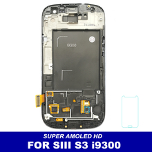 100% Tested AMOLED LCDs Replacement For Samsung Galaxy SIII S3 i9300 Phone LCD Display Touch Screen Digitizer Full Assembly(China)