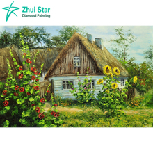 Needlework diamond painting 5d diamond embroidery Forest house square drill full embroidery photos rhinestones home decoration