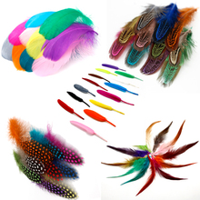 50pcs Mix Color Feather Ostrich/Goose/Chicken Pheasant Feather DIY Wedding Decoration Elegant Party Clothes Accessories Feathers