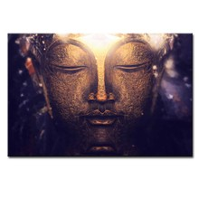 1 Piece Buddha Canvas Print Painting Large Brown Classical God Wall Art Picture For Home Decor(China)
