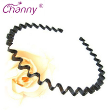 Black Wavy Hair Head hoop for Mens Womens Unisex Sport Headband Hairband Hair Clip Accessories High quality Free Shipping(China)