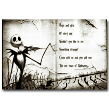 NICOLESHENTING The Nightmare Before Christmas Art Silk Poster Print Cartoon Movie Picture for Home Decor 015