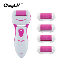 CkeyiN Rechargeable Electric Pedicure Kit Dry Hard Skin Callus Remover Foot Smoother Massage Grinding File+Extra Roller Heads
