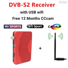 Digital satellite tv decoder Receiver DVB-S2 + 12 Months free Europe CCCam account + USB Wfi Support Card Sharing NEWcam MGcam