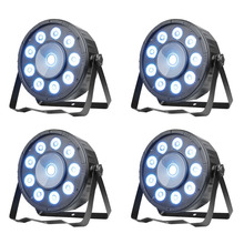TSSS 4Pack Led Uplight 10 RGB LED DMX512 LED PAR Can Stage Lighting for Wedding KTV DJ Bar Party Show 45W(China)
