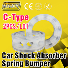 2Pcs Car Auto C-Type Shock Absorber Spring Bumper Power Cushion Buffer Special Wholesale Auto Parts Free Shipping(China)