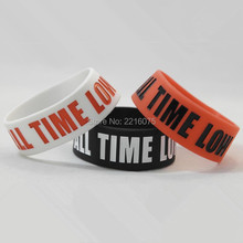 300pcs one inch wide All time low wristband silicone bracelets free shipping by DHL express(China)